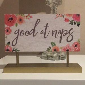 Good at Naps Wooden Sign